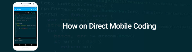 How on Direct Mobile Coding